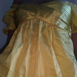 Bebe bright yellow top